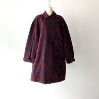 KEISUKEYOSHIDA / Suspender Coat / NAVY×BURGUNDY ROSE