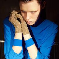 FAKUI / SEE-THROUGH GLITTER SC /  BLUE×GOLD