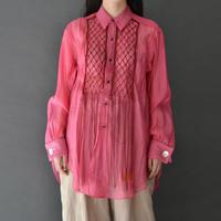 PONTI / MACRAME DRESS SHIRT