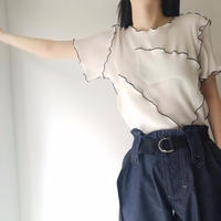 to do kotohayokozawa / Pleats top / short-sleeve / WHITE