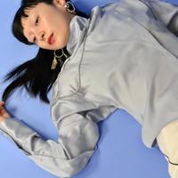 YOHEI OHNO / Satin Fencing Shirt / BLUE