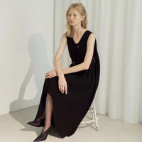 YOHEI OHNO / Mantle Dress / BLACK
