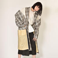 TOGA / Check Wide Shoulder Coat
