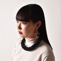 TOGA / Beads Necklace / Black