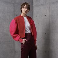 TWEO / Hanacho Knit / Pink × Red