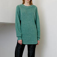 soduk / thermal knit pullover / green