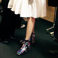 【DELTA EXCLUSIVE】NON TOKYO  / Jacquard Heel Boots / BLUE