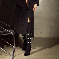 FAKUI / LINED BIJOUX KNEE-HIGH SC / BLACK