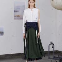 PONTI / CUPRA SHANTUNG 2WAY DRESS / GREEN