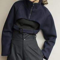LEINWANDE / Kahlo Short Wool Blouson / Navy