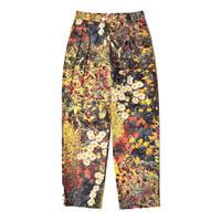 WATARU TOMINAGA / Twin Pleat Trousers / Garden Print