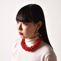 TOGA / Beads Necklace / Red