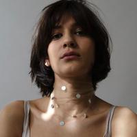 【4月入荷予定】Saskia Diez / PAILLETTES SCARF / BEIGE
