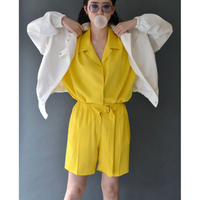 VEJAS / LASHED SHIRT / YELLOW