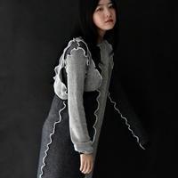 to do kotohayokozawa / Docking Knit Dress / Black