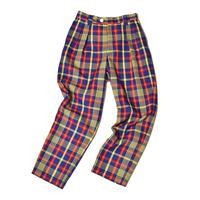 WATARU TOMINAGA / Twin Pleat Trousers / Plaid Woven