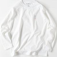 long t  white / neon logo