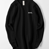 waffle long shirt black / she,