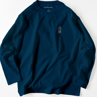 long t  navy / neon logo