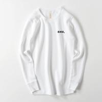 waffle long shirt white / she,