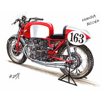 Honda RC160 (フレーム付きポスター)