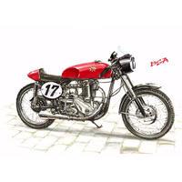 BSA Cafe Racer (フレーム付きポスター)