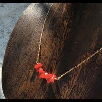○サルジ珊瑚のネックレス