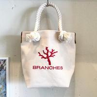 BRANCHES オリジナル トートバック *珊瑚刺繍入り*(キナリ)