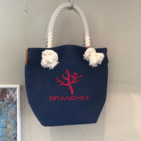 BRANCHES オリジナル トートバック *珊瑚刺繍入り*(フラワーブルー)