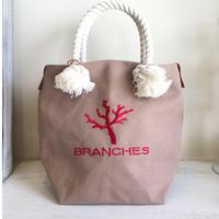 BRANCHES オリジナル トートバック *珊瑚刺繍入り*(ライトシナモン)