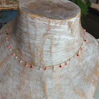 ○染珊瑚の つぶつぶネックレス