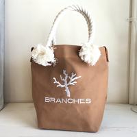 BRANCHES オリジナル トートバック *珊瑚刺繍入り*(モカ)