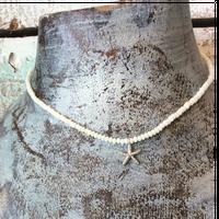 シルバーヒトデモチーフとウミタケ珊瑚のネックレス