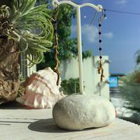 枝珊瑚モチーフピアス(ラピスラズリ)