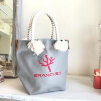 BRANCHES オリジナル トートバック *珊瑚刺繍入り*(グレー)
