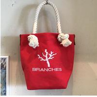 BRANCHES オリジナル トートバック *珊瑚刺繍入り*(レッド)