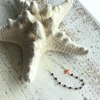 ラピスラズリと深海珊瑚のネックレス