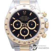 ロレックス 腕時計 コスモグラフ デイトナ Ref.16523 L番 オールトリチウム シングルバックル 逆6 黒文字盤 SS YG 箱・保付 【送料無料】