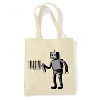 トートバッグ(Tagging Robot with Barcode)