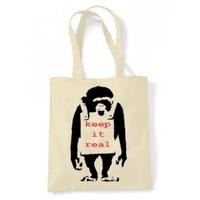 トートバッグ(Keep it Real Monkey)