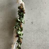 【Dry flower】ザクロのガーランドシリーズ 小さめなホワイトリボン