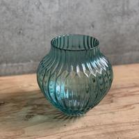 ブルーガラスクラシック花器