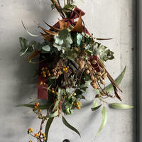 [Dry flower]実ものいろいろ秋スワッグ