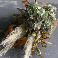 [Dry flower]アジサイのコンパクトスワッグ(デザインA)