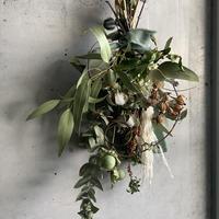 [Dry flower]コットンとパンパスの大人ナチュラルスワッグ