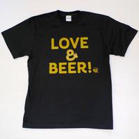 LOVE&BEER! Tee ブラック