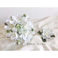 Bouquet&Boutonniere ユーチャリス ラウンド型(ホワイト系)