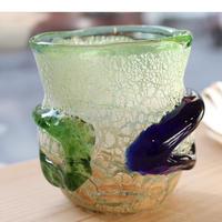 沖縄 琉球ガラス 稲嶺盛吉氏 土紋グラス