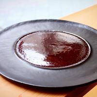 大嶺工房 大嶺實清さん 黒釉皿 やちむん 陶器
