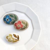 マカベアリス 刺繍ブローチ 横型②
